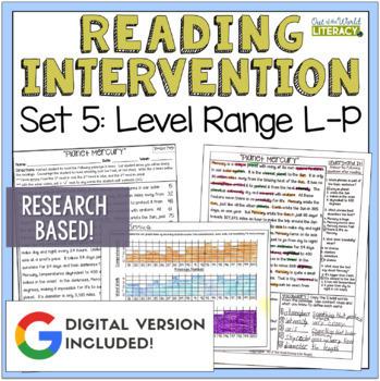 Reading Intervention Program: Set Five Level Range L-P RES