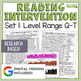 Reading Intervention Program: Set One Level Range Q-T RESE