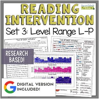 Reading Intervention Program: Set Three Level Range L-P RE