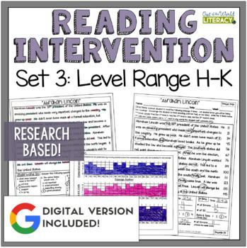 Reading Intervention Program: Set Three Level Range H-K RE