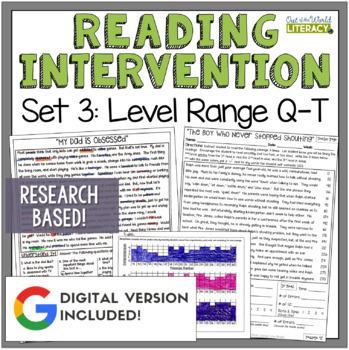 Reading Intervention Program: Set Three Level Range Q-T RE