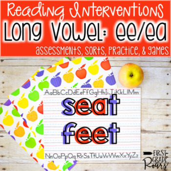 Reading Interventions: Long e~ ee/ea Assessments, Practice