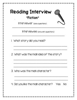 Reading Interview Questions