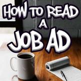 Reading Job Advertisements - Special Education High School