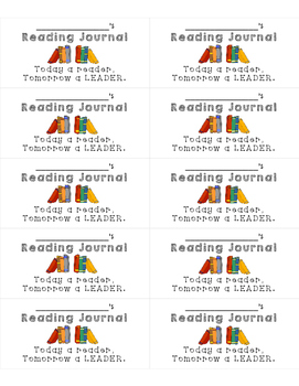 Reading Journal Labels (Avery 5163)