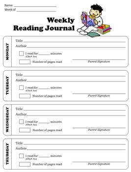 Reading Journal - Weekly, Primary