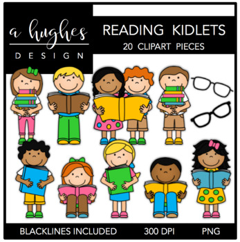 Reading Kidlets {Graphics for Commercial Use}