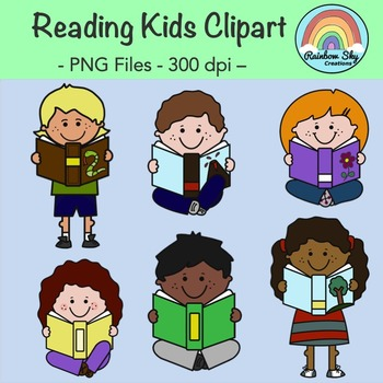 Reading Kids Clipart - Free Download