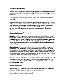 Reading Lesson Plan/TC Format/Teaching Fact and Opinion wi