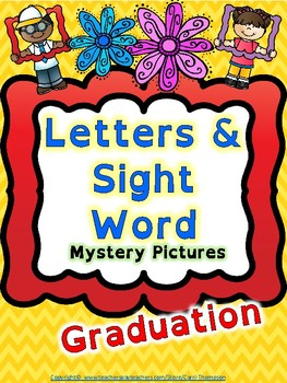 Reading: Letters and Sight Words Graduation Mystery Pictures
