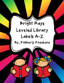Reading Leveled Library Labels (A-Z) - Bright Rays