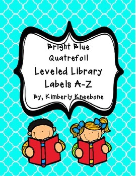 Reading Leveled Library Labels (A-Z) - Bright Turquoise Qu