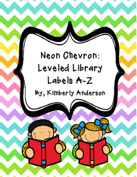 Reading Leveled Library Labels (A-Z: Just Letters!!) - Neo