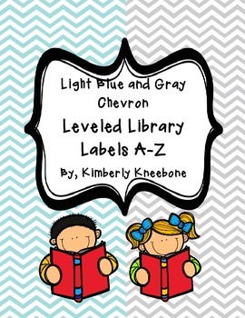 Reading Leveled Library Labels (A-Z) - Light Blue and Gray
