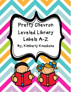 Reading Leveled Library Labels (A-Z) - Pretty Chevron