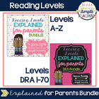 Reading Levels Explained for Parents BUNDLE [Levels A-V]
