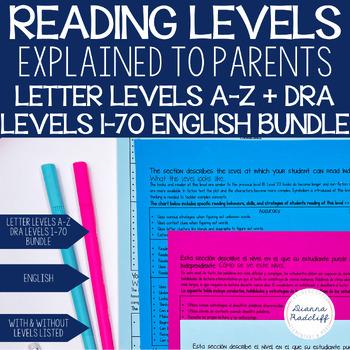 Reading Levels Explained for Parents BUNDLE [Levels A-V]
