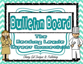 Reading Lexile Career Connection Bulletin Board~Turquoise