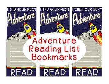 Reading List Bookmarks Summer Adventure Motivational Gift