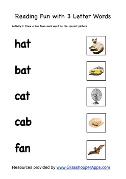 Three Letter Words Worksheets - Scalien