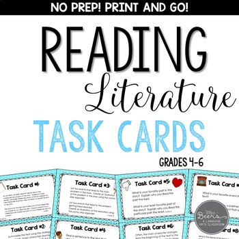 Reading Literature Task Card Toolkit for Grades 4-6 Common