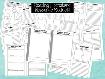Reading Literature Response Booklet for ANY BOOK!!  CCSS A
