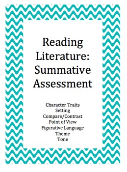 Common Core Reading Literature:  Summative Assessment