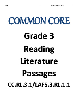 Reading Literature test RL.3.1