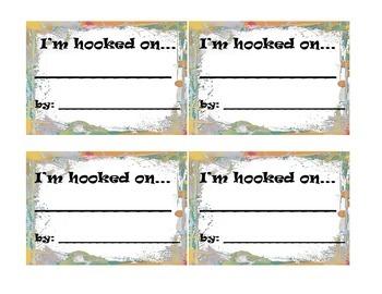 Reading Student Locker Tags: I'm Hooked On...