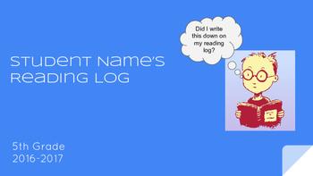 Reading Log: Google Slides Version