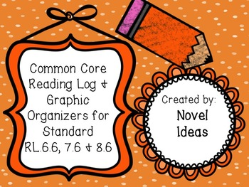 Literature Standards Based Graphic Organizers & Log for RL