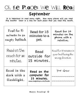 Reading Log - Motivation - Homework SEPTEMBER