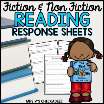 Reading Log Response Sheets for Fiction & Non-Fiction