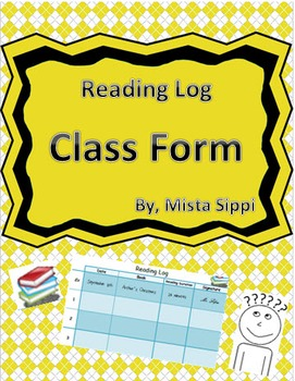 Reading Log Template (Differentiated)