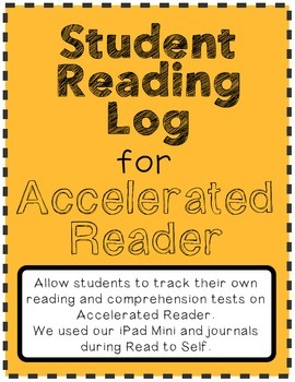 Reading Log (Tracker) for Accelerated Reader