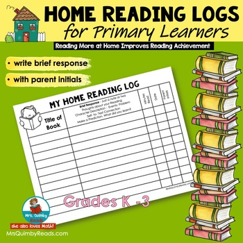 Reading Log for Home with Parent Initial Box