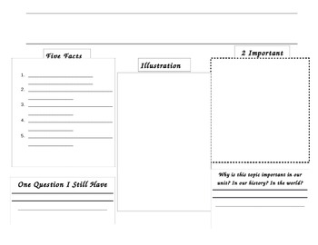 Reading Log for Informational Text