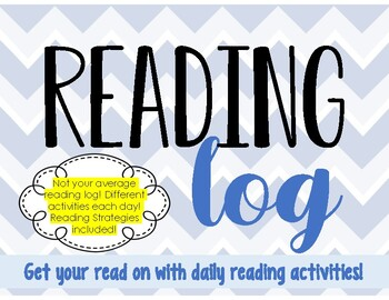Reading Log with Reading Strategies