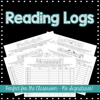 Monthly Classroom Reading Logs