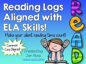 Reading Logs Aligned with ELA Skills {CCS Aligned}