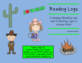 Reading Logs: Daily and Monthly Recording Sheets  ELA Wild