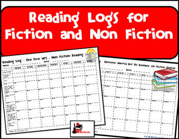 Reading Logs for Fiction and Nonfiction Reading