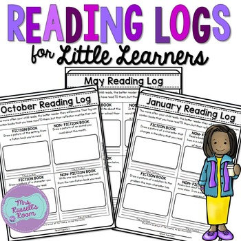 Reading Logs for Little Learners {EDITABLE VERSION}