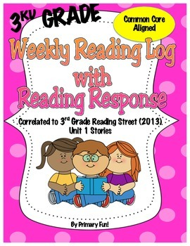 Reading Logs with Reader Response - READING STREET (2013)