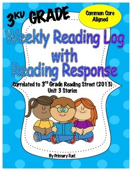 Reading Logs with Reading Response - READING STREET (2013)