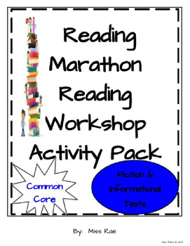 Reading Marathon Reading Workshop Activity Pack