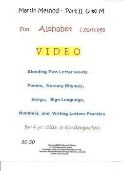 Reading, Martin Method Part II   Video 21