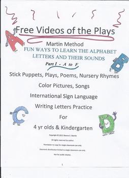 Reading, Martin Method Video of PreK Play 11