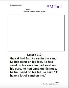 Reading Mastery K - Draw Picture for Reading Passages Less
