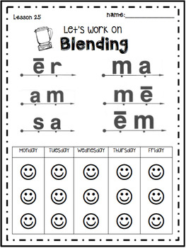 Reading Mastery K Let's Work on Blending***FREE***